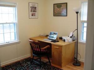 office desk after