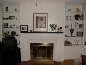 mantle and shelves after